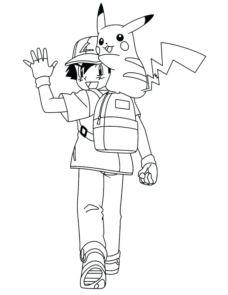 736x950 Ash And Pikachu Coloring Pages Coloring Pages Ash And Coloring