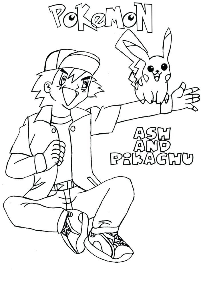 724x1024 Ash Ketchum Coloring Pages Ash Coloring Page Free Printable