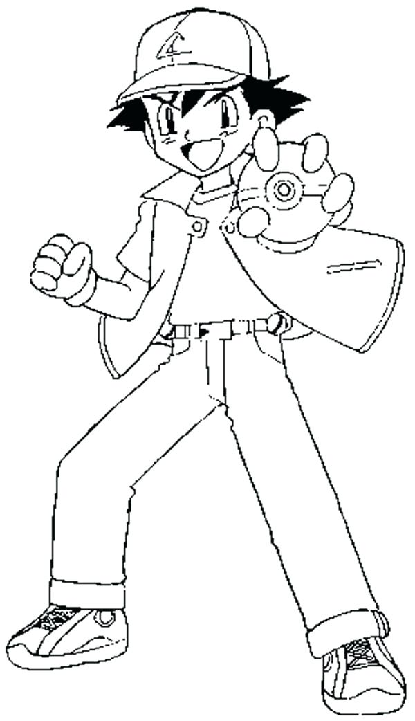 600x1042 Ash Ketchum Coloring Pages Coloring Pages And Ash Google Search