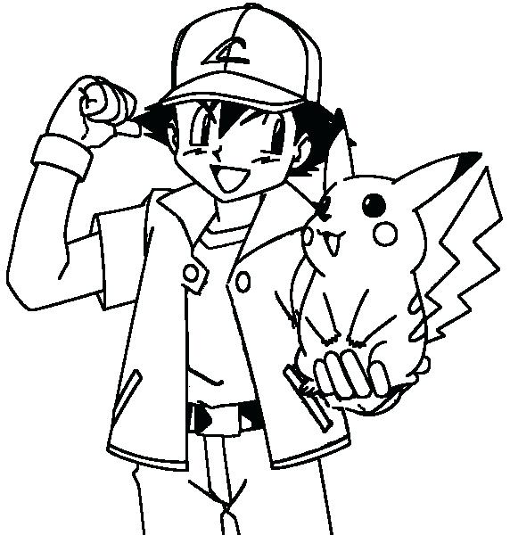 572x600 Ash Ketchum Coloring Pages Coloring Pages Ash Ash And Coloring