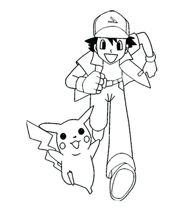 600x733 Ash Ketchum Coloring Pages Hatch A Characters Coloring Pokemon Ash
