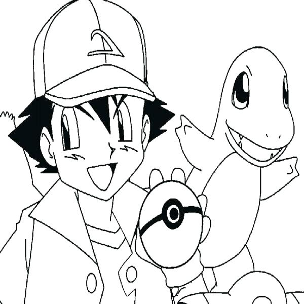 600x600 Ash Pokemon Coloring Page Coloring Pages And Ash Google Search