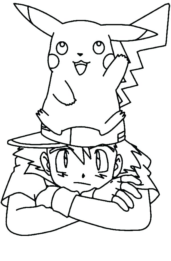 600x916 Pokemon Ash Coloring Pages Ash Coloring Page Terrific And Pages