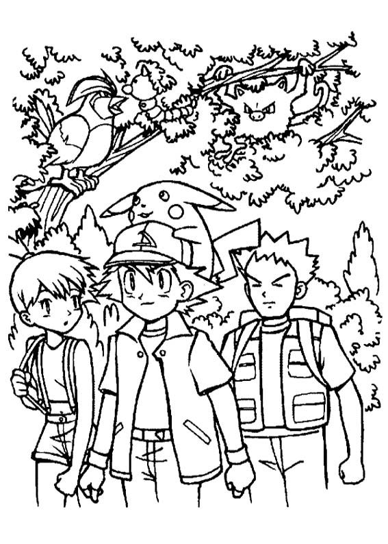 567x794 Ash Ketchum And Friends Coloring Page Me Being A Kid, Doing Kid