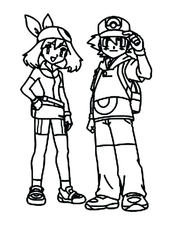 600x780 Pokemon Coloring Pages Ash Misty Coloring Pages Ash Coloring Pages