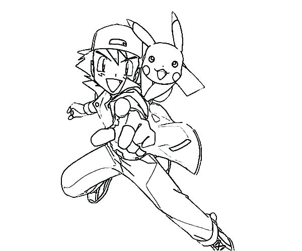600x500 Ash Pokemon Coloring Pages Jgheraghty Site