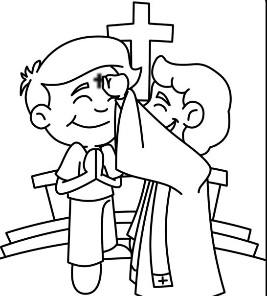 546x605 Ash Wednesday Coloring Pages