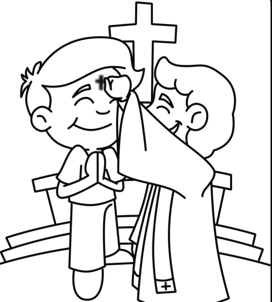 924x1024 Ash Wednesday Coloring Pages Printable Also Page Wagashiya
