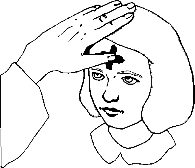 675x581 Ash Wednesday Coloring Page