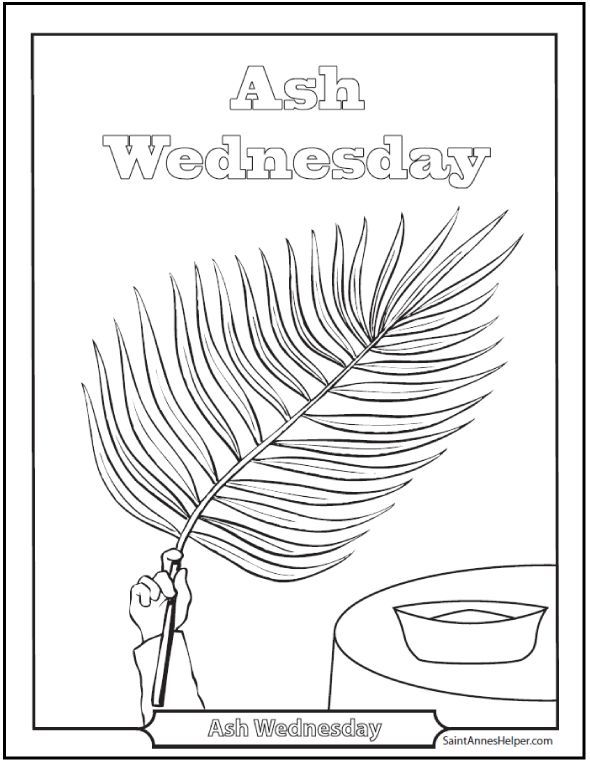 590x762 Ash Wednesday Coloring Pages Start Lent Well Ash Wednesday, Ash