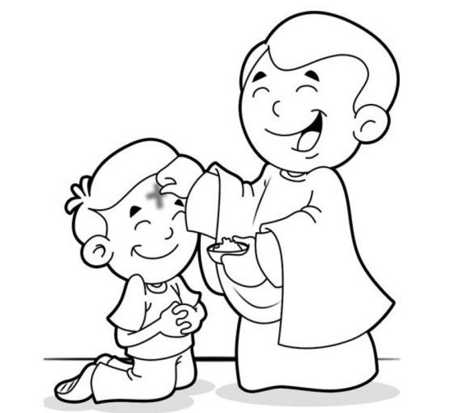678x600 Ash Wednesday Coloring Sheet Kids Europe Travel Inside Pages