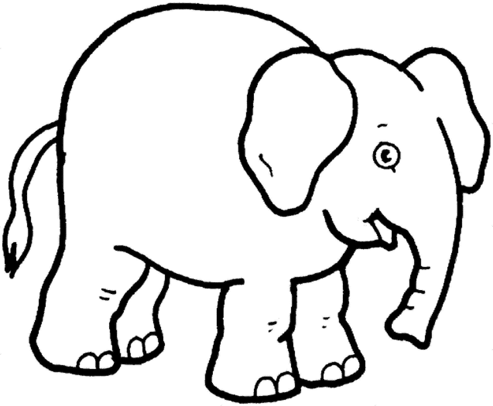 Asian Elephant Coloring Page at GetDrawings.com | Free for personal ...