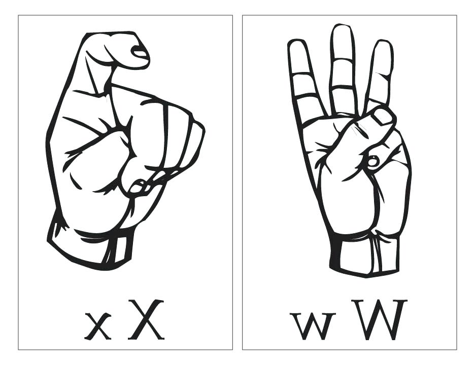 Asl Coloring Pages At Getdrawings Com Free For Personal Use Asl