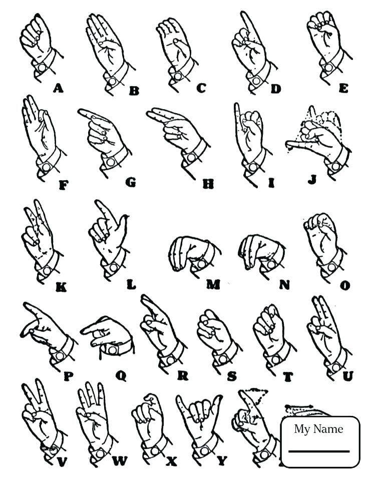 Asl Coloring Pages At Getdrawings Free Download