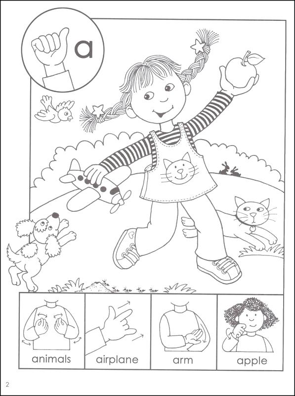 597x800 Asl Coloring Pages Asl Coloring Pages Click To See Printable