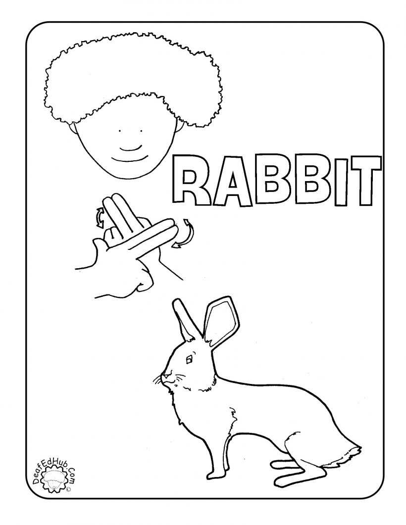 820x1061 Chair Contemporary Sign Language Coloring Pages Awesome Rabbit