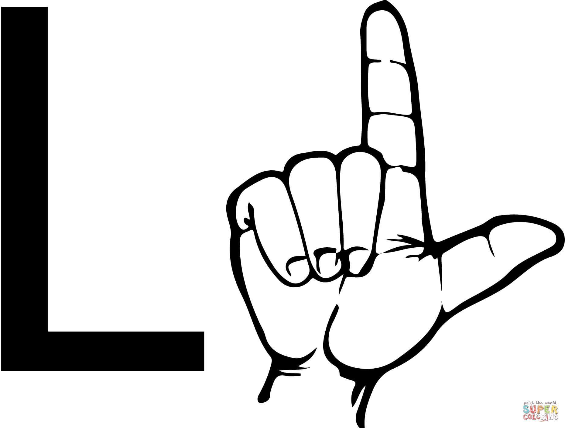 1860x1412 Incredible Asl Sign Language Lettercoloring Page Printable