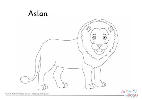 Aslan Coloring Pages