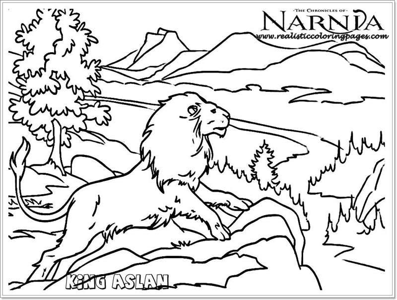 800x604 Narnia Aslan Coloring Pages