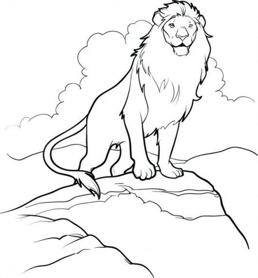 530x570 Aslan The Great Lion Narnia Coloring Page The Chronicles Narnia