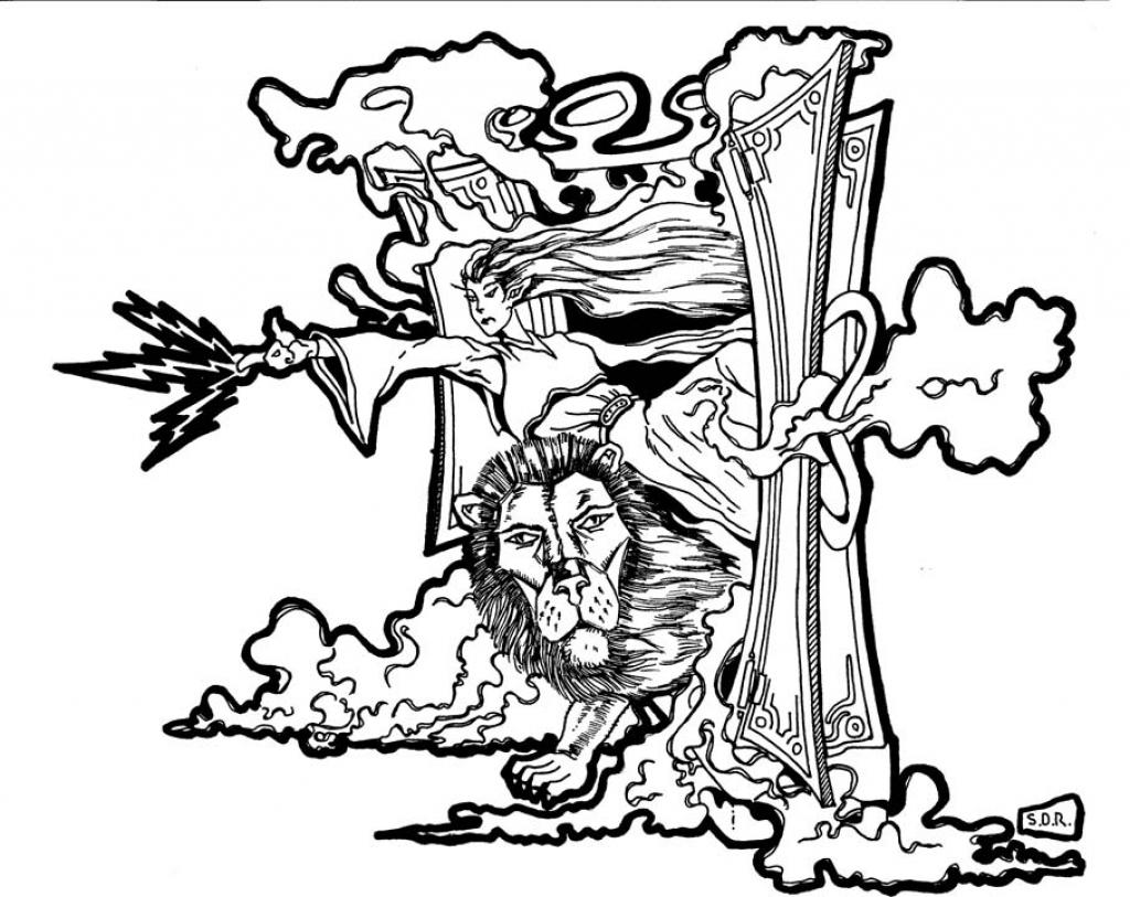 1024x813 The Lion Aslan Coloring Pages Hellokids Regarding Lion