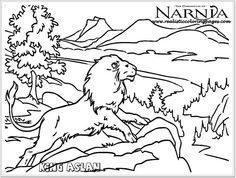 236x178 Chronicles Of Narnia Aslan On Narnia Coloring Pages