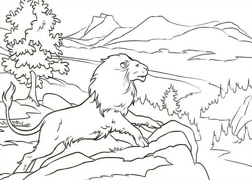 842x600 Chronicles Of Narnia Coloring Pages