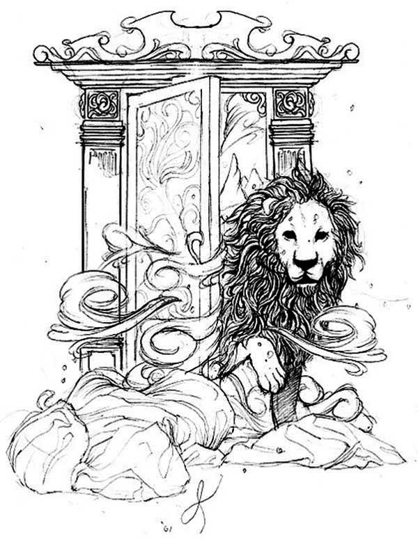 600x776 Chronicles Of Narnia, Aslan Come Out From Narnia Narnia