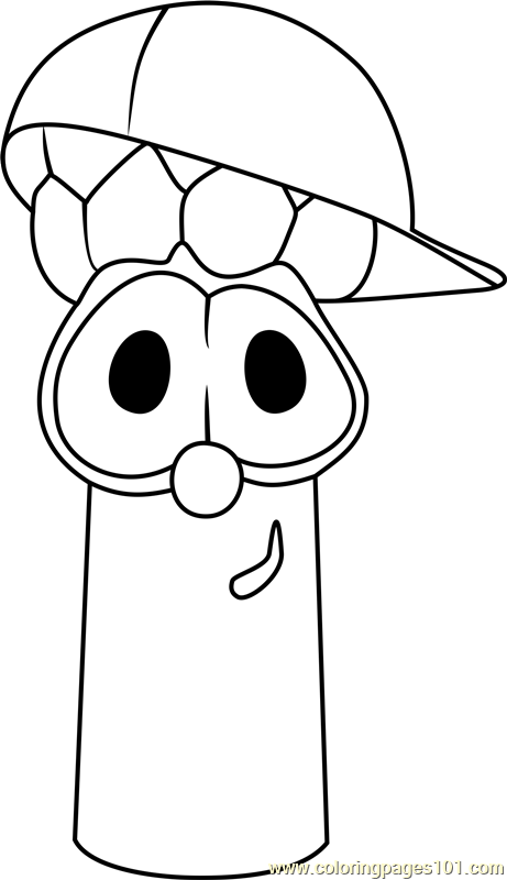 461x800 Junior Asparagus Coloring Page Free Veggietales Pages On Cartoon
