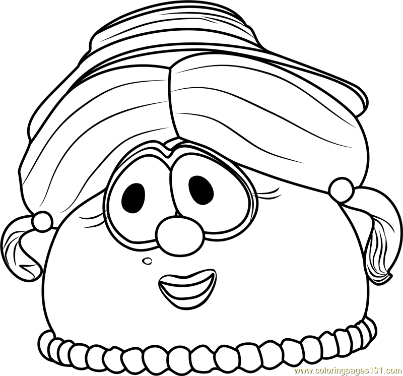 800x746 Madame Blueberry Coloring Page
