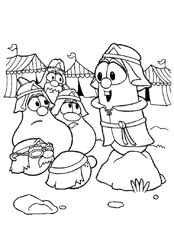 600x819 Veggie Tale Coloring Pages Coloring Pages Veggie Tales Coloring