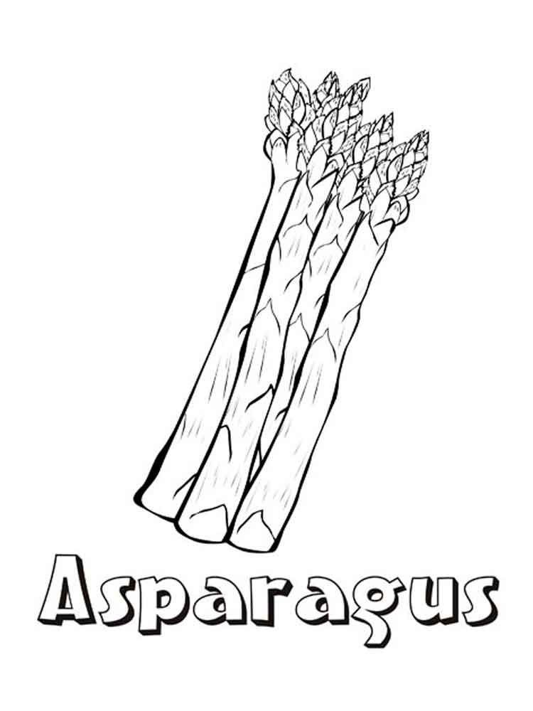 750x1000 Asparagus Coloring Pages Download And Print Asparagus Coloring Pages