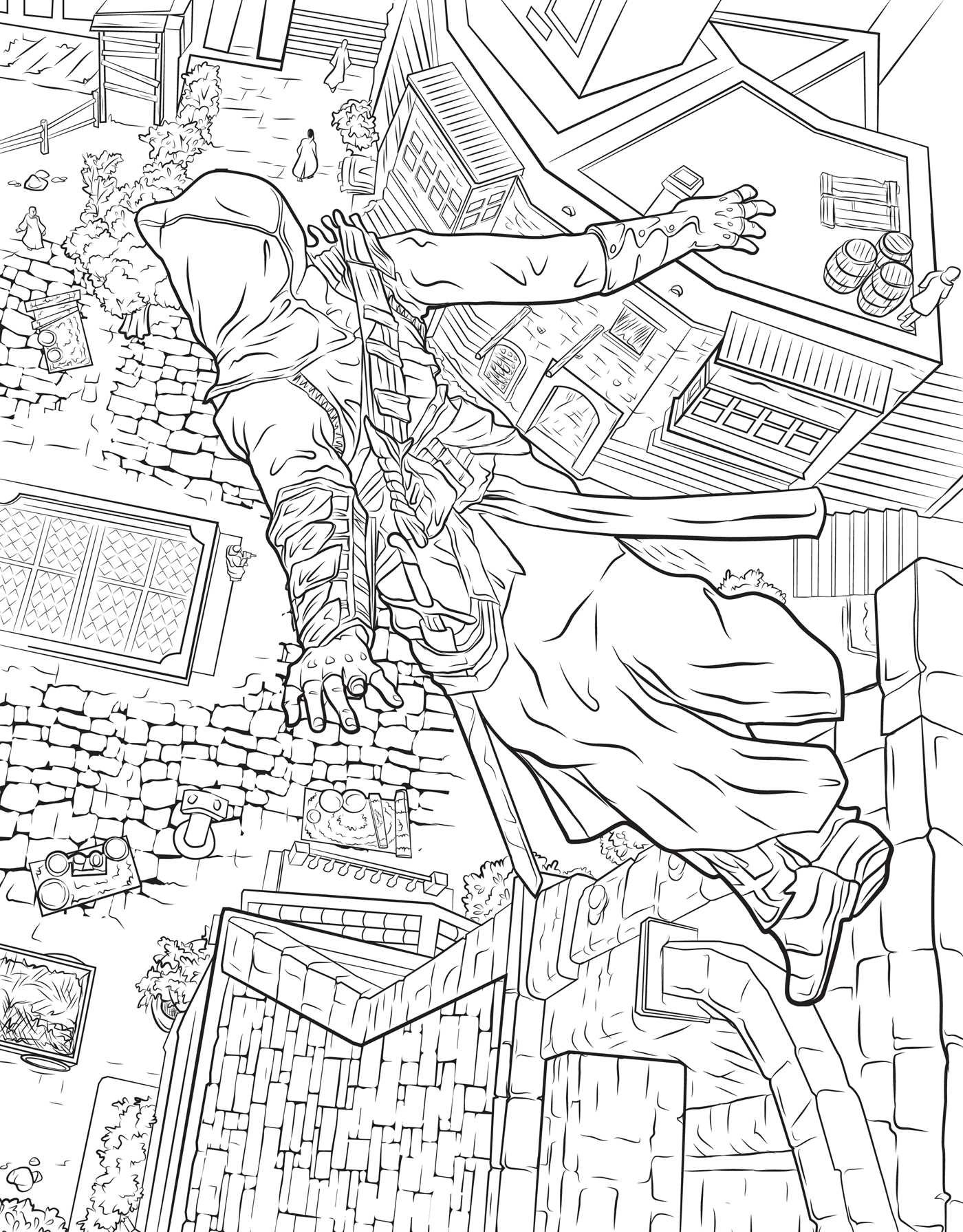 1400x1791 Assassin's Creed The Official Coloring Book Insight Editions