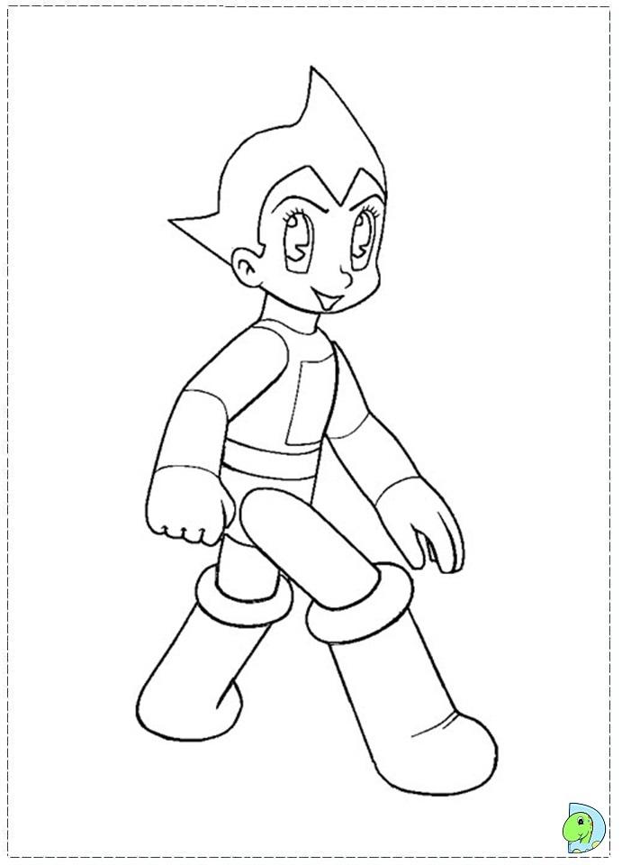 691x960 Astro Boy Coloring Page