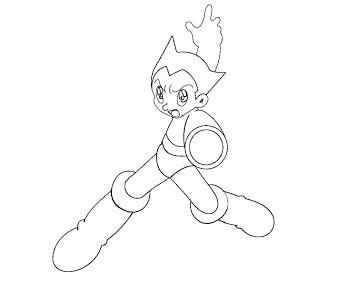338x282 Astro Boy Coloring Page