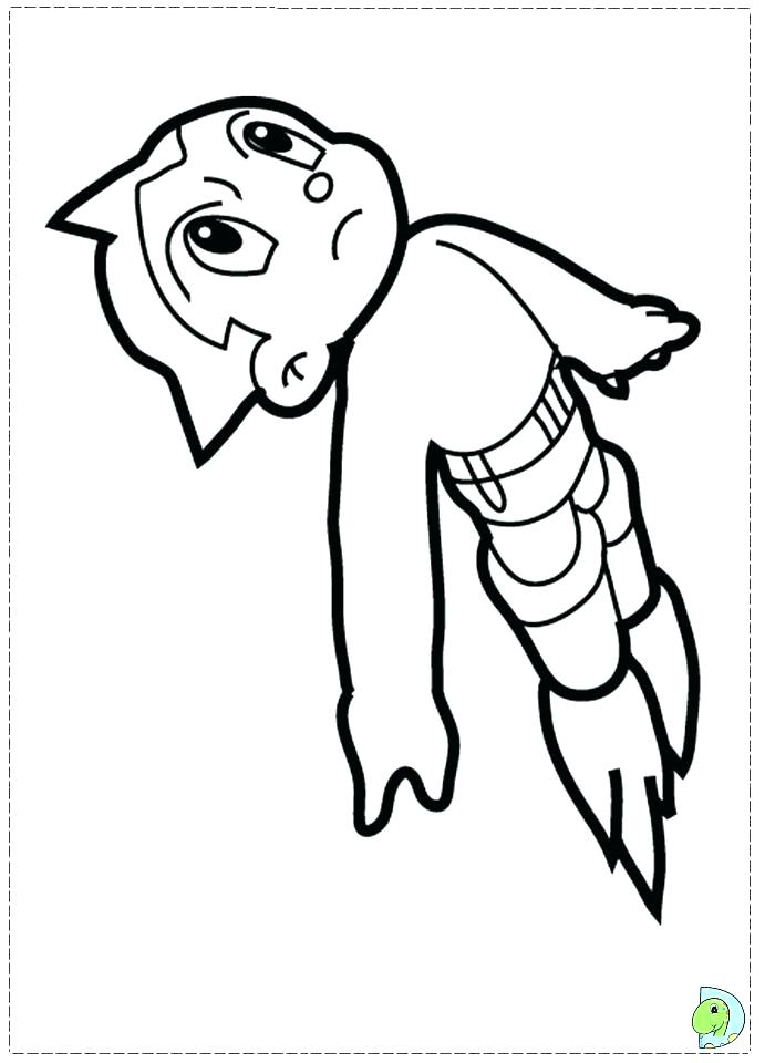 691x960 Astro Boy Coloring Pages