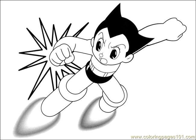 650x464 Astro Boy Coloring Page
