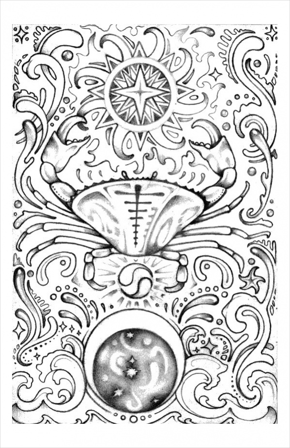 599x924 Astrology Coloring Pages Printable Astrology Coloring Page