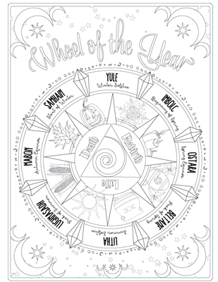 309x400 Awesome Ideas Astrology Coloring Pages Book Of Shadows Witchcrafty