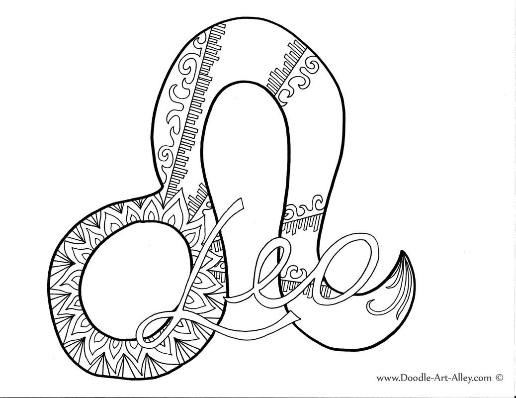1038x800 Leo Orig Astrology Coloring Pages