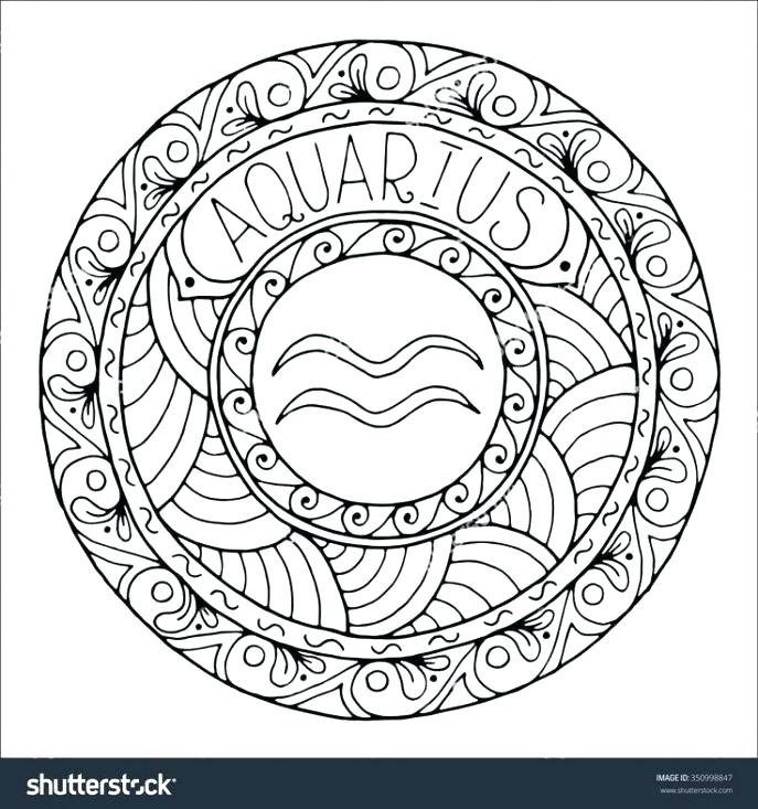 687x733 Zodiac Coloring Pages Astrology Coloring Page Simple Astrology