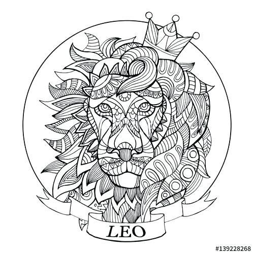 500x500 Zodiac Coloring Pages Zodiac Sign Coloring Page For Adults Free
