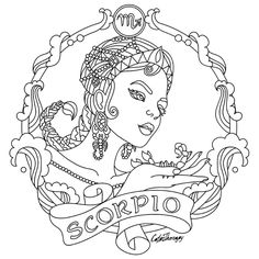 236x236 Aries Zodiac Beauty Colouring Page Craft Ideas