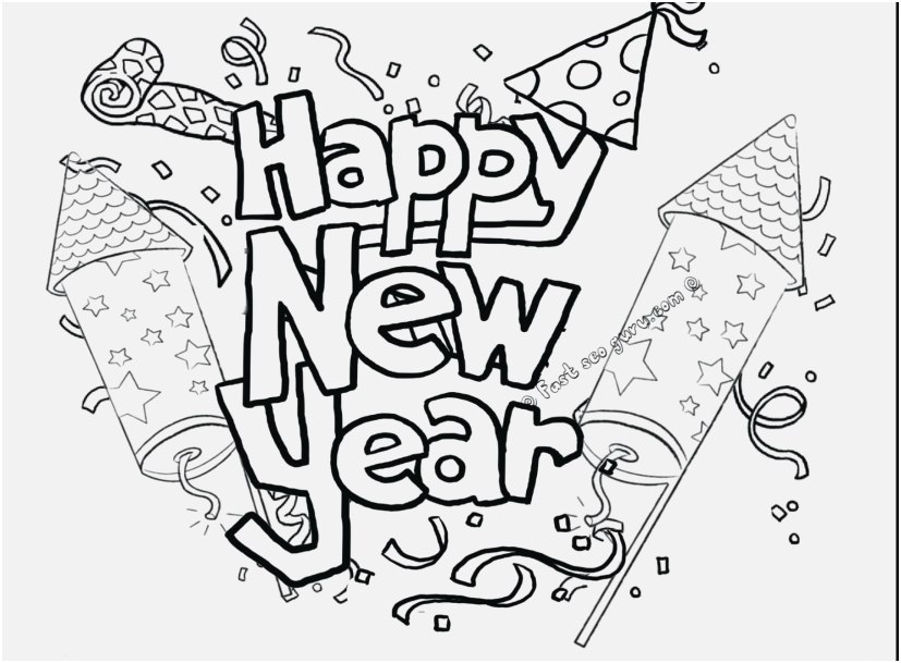 827x609 Astrology Coloring Pages Capture Pretty Happy New Year