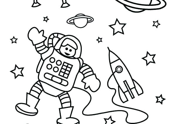 600x425 Astronaut Coloring Pages Astronaut Colouring Sheet Space Coloring