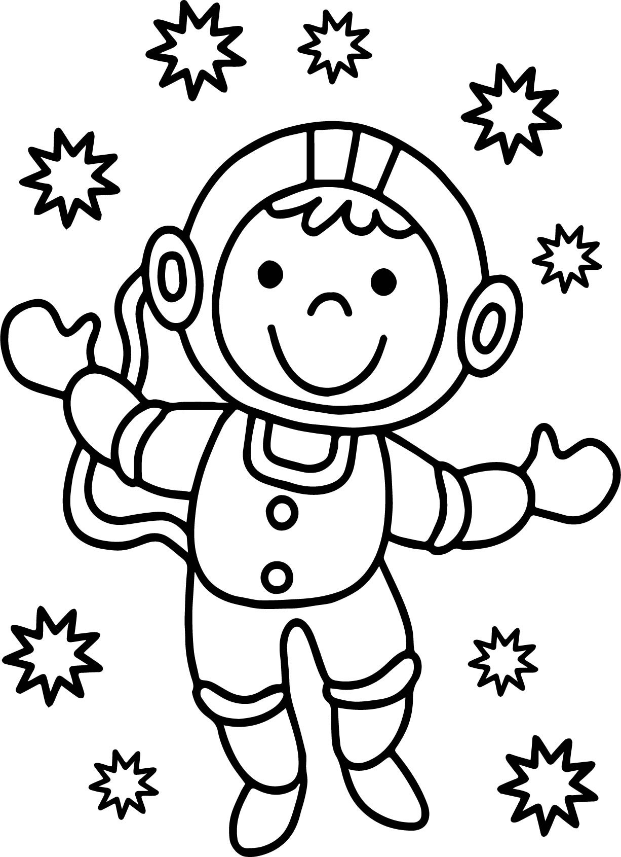 Astronaut Coloring Pages at GetDrawings | Free download