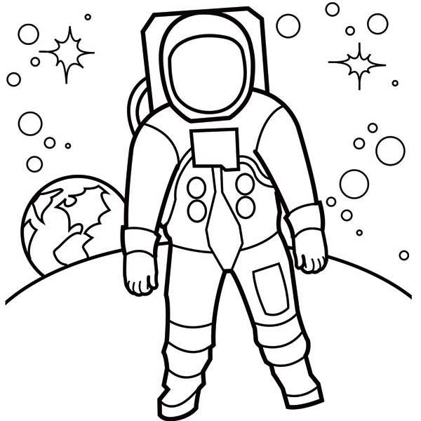 600x600 Astronaut Coloring Pages Printable Astronaut Coloring Page