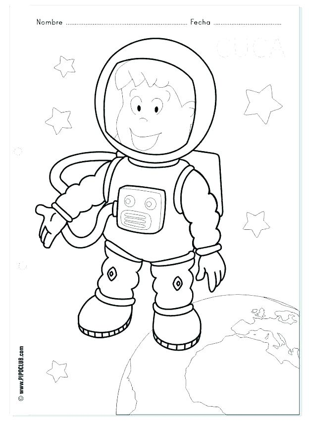 624x850 Astronaut Coloring Pages Astronaut Coloring Pages Astronaut