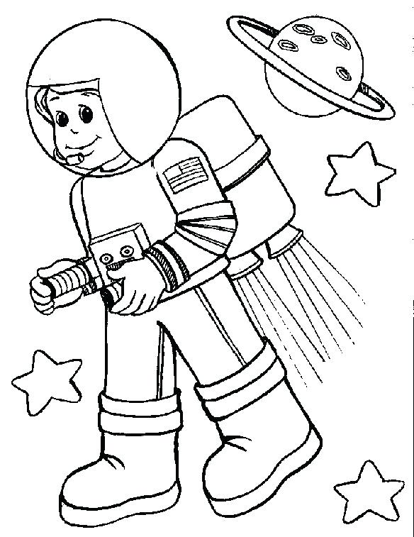 584x757 Astronaut Coloring Pages Medium Size Of Astronaut Coloring Pages