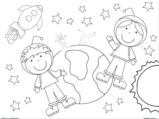 661x496 Astronaut Coloring Pages Outer Space Coloring Pages Space Coloring